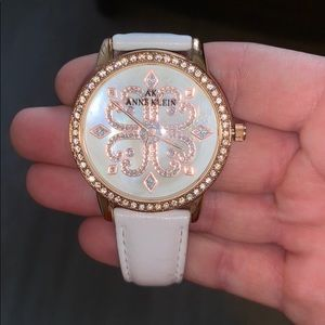 Gold and White watch with Rose Gold accents